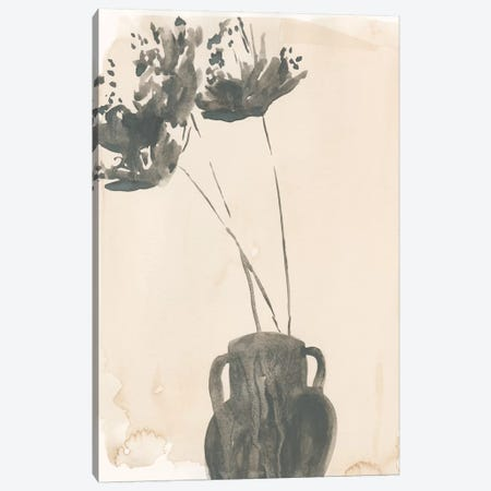 Grey Garden Vase II Canvas Print #JPP172} by Jennifer Paxton Parker Canvas Art