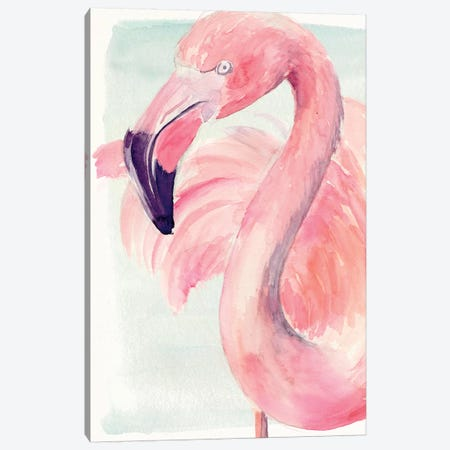 Pastel Flamingo I Canvas Print #JPP183} by Jennifer Paxton Parker Canvas Print