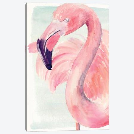 Pastel Flamingo I 3-Piece Canvas #JPP183} by Jennifer Paxton Parker Canvas Print