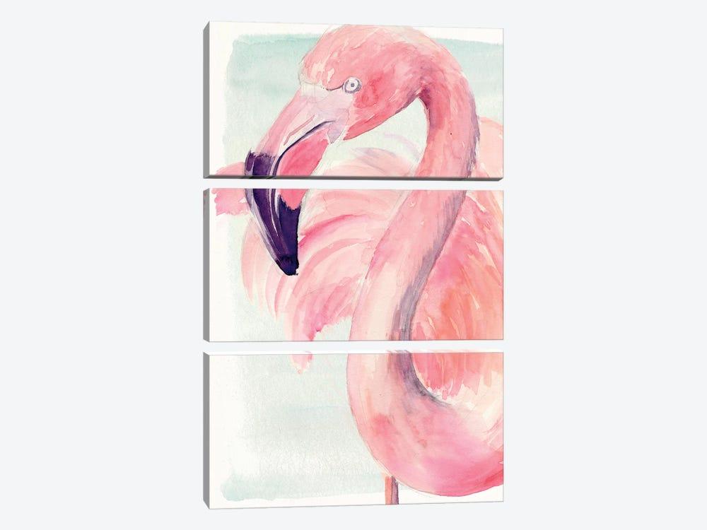 Pastel Flamingo I by Jennifer Paxton Parker 3-piece Canvas Artwork