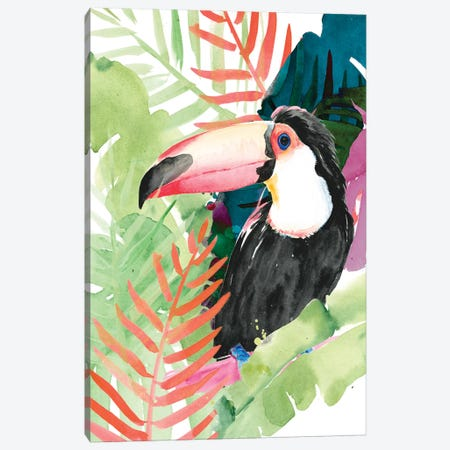 Toucan Palms I 3-Piece Canvas #JPP197} by Jennifer Paxton Parker Canvas Art Print