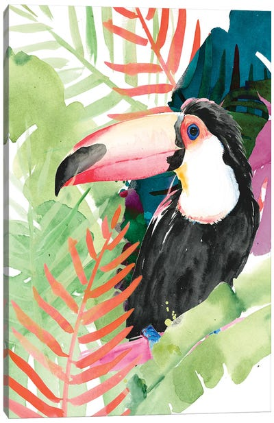 Toucan Palms I Canvas Art Print