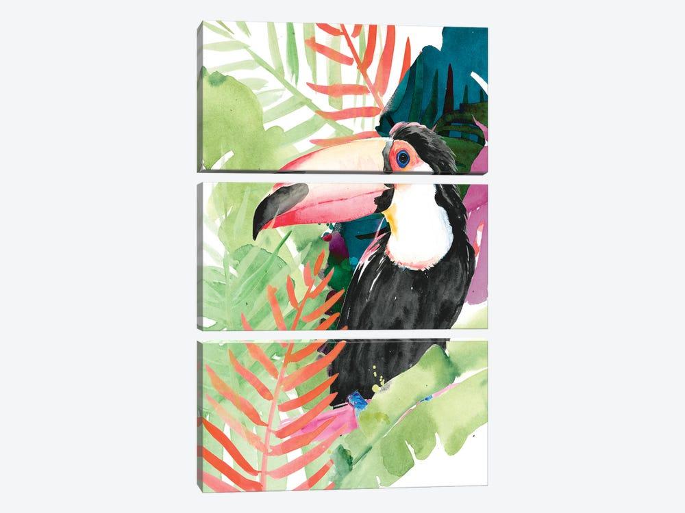 Toucan Palms I by Jennifer Paxton Parker 3-piece Canvas Print