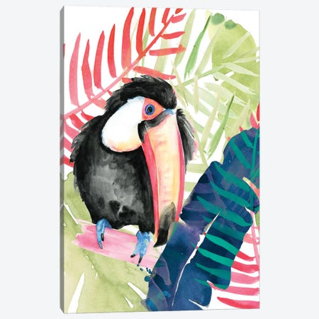Toucan Palms II 3-Piece Canvas #JPP198} by Jennifer Paxton Parker Canvas Art