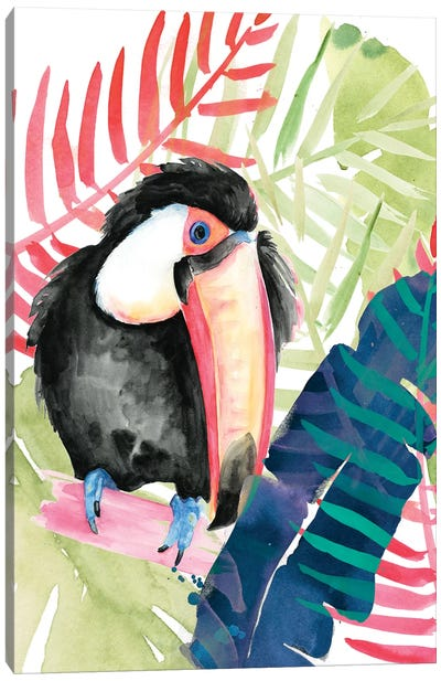 Toucan Palms II Canvas Art Print