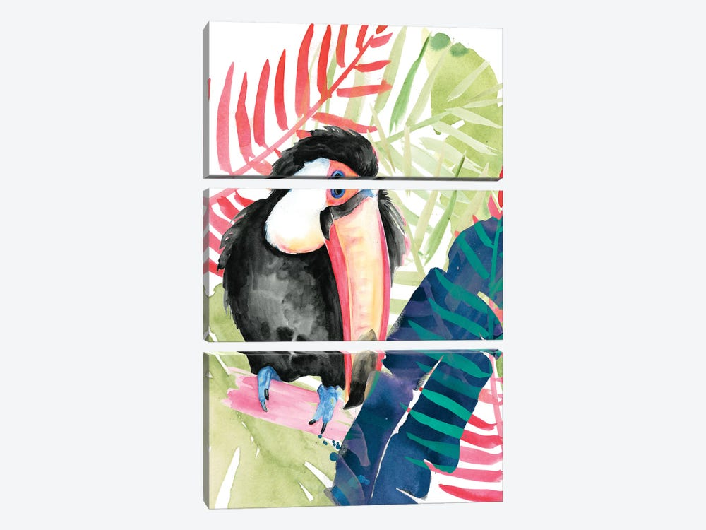 Toucan Palms II by Jennifer Paxton Parker 3-piece Canvas Wall Art