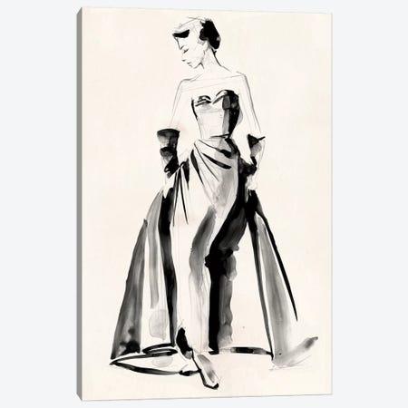 Vintage Costume Sketch I Canvas Print #JPP199} by Jennifer Paxton Parker Canvas Art