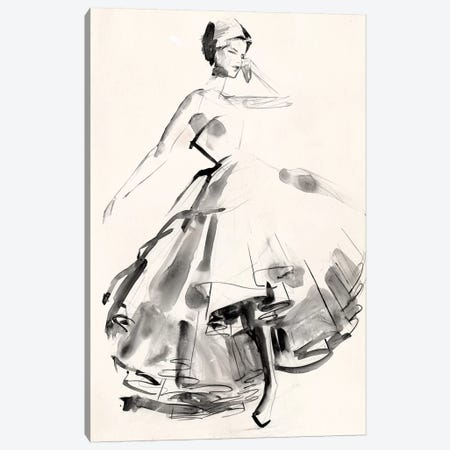 Vintage Costume Sketch II Canvas Print #JPP200} by Jennifer Paxton Parker Canvas Artwork
