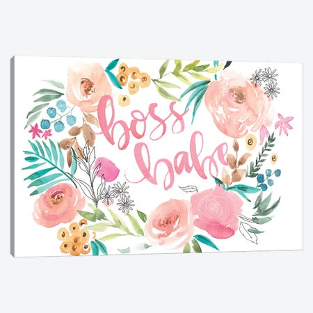 Boss Babe I Canvas Print #JPP205} by Jennifer Paxton Parker Art Print