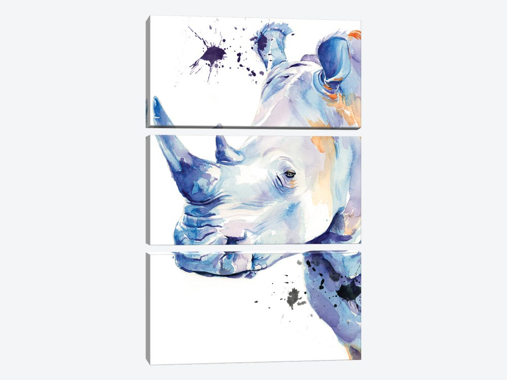Ultra Violet Safari II by Jennifer Paxton Parker 3-piece Canvas Wall Art