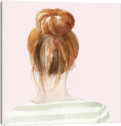 Top Knot Sailor Stripes II Canvas Art Print