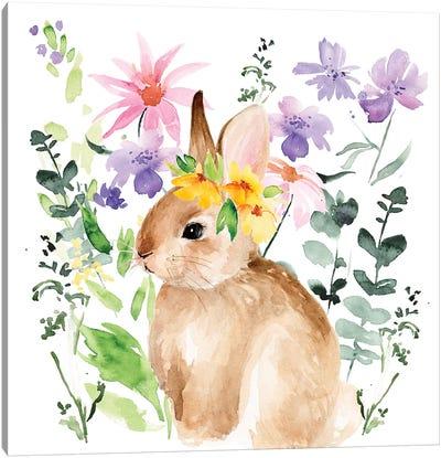 Watercolor Spring Garden I Canvas Art Print