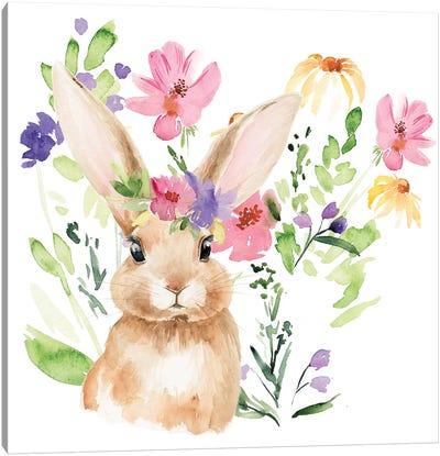 Watercolor Spring Garden II Canvas Art Print