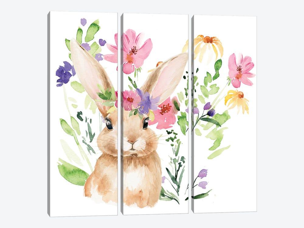 Watercolor Spring Garden II by Jennifer Paxton Parker 3-piece Canvas Art Print