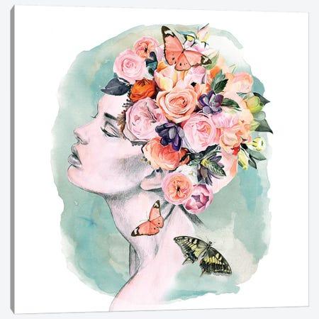 Floral Locks I Canvas Print #JPP237} by Jennifer Paxton Parker Canvas Art