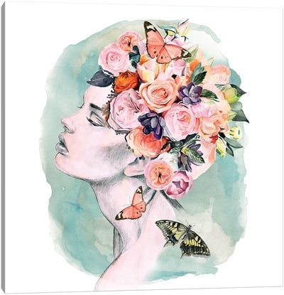Floral Locks I Canvas Art Print