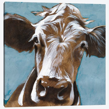 Cow Kisses II Canvas Print #JPP242} by Jennifer Paxton Parker Canvas Wall Art
