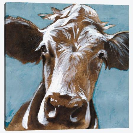 Cow Kisses II Canvas Print #JPP242} by Jennifer Paxton Parker Canvas Wall Art