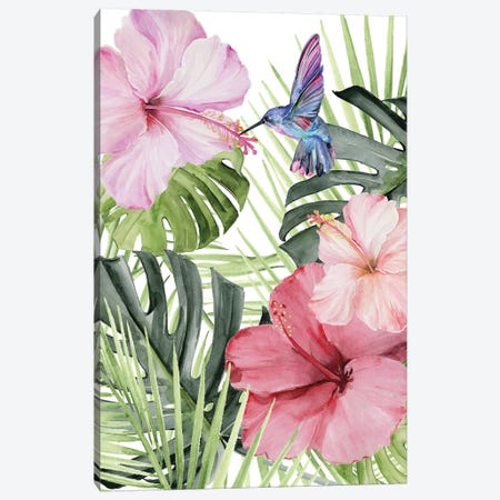 Hibiscus & Hummingbird I 3-Piece Canvas #JPP243} by Jennifer Paxton Parker Canvas Wall Art
