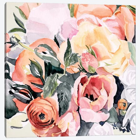 Autumn Bouquet II 3-Piece Canvas #JPP250} by Jennifer Paxton Parker Canvas Art Print
