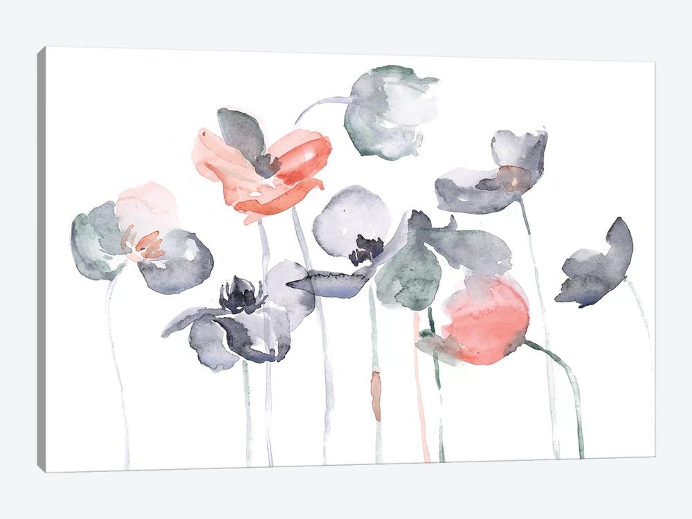 Poppy Haze I by Jennifer Paxton Parker 1-piece Canvas Art Print