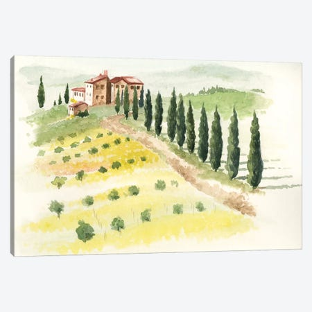 Tuscan Villa II Canvas Print #JPP26} by Jennifer Paxton Parker Canvas Art