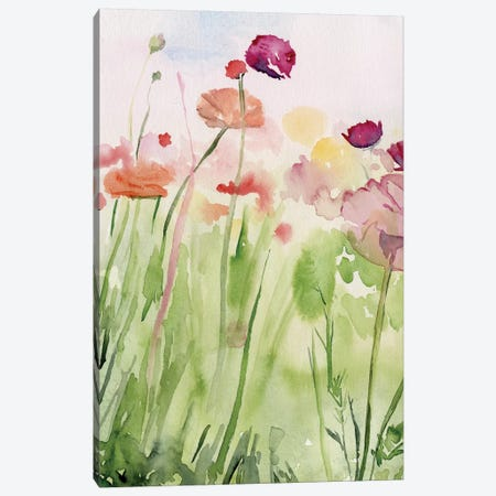 Among the Watercolor Wildflowers I 3-Piece Canvas #JPP283} by Jennifer Paxton Parker Canvas Art