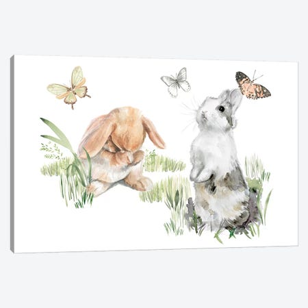 English Bunnies I Canvas Print #JPP293} by Jennifer Paxton Parker Canvas Art Print