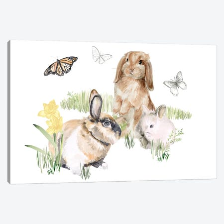 English Bunnies II Canvas Print #JPP294} by Jennifer Paxton Parker Canvas Artwork
