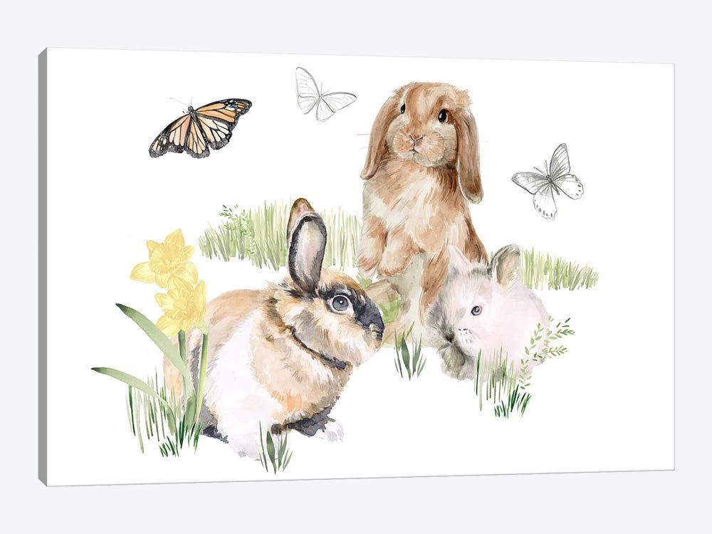 English Bunnies II by Jennifer Paxton Parker 1-piece Canvas Artwork