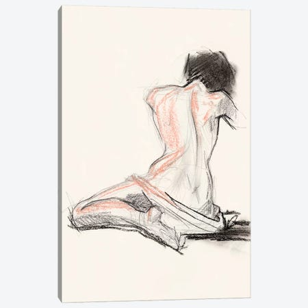 Figure Gesture I Canvas Print #JPP295} by Jennifer Paxton Parker Canvas Wall Art