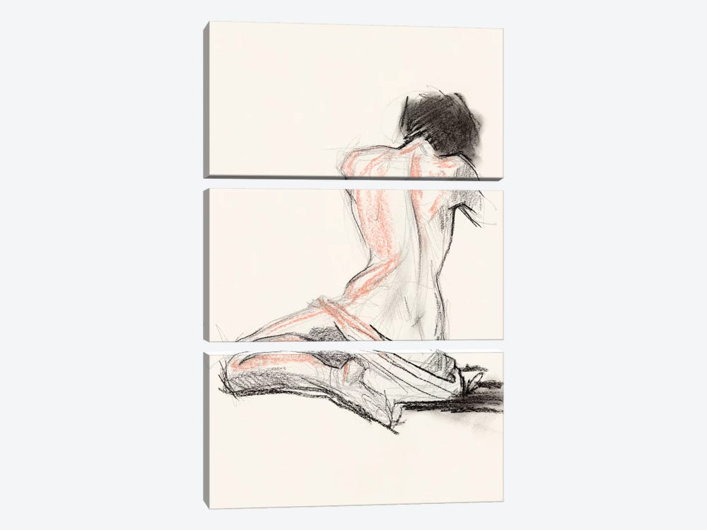 Figure Gesture I 3-piece Art Print
