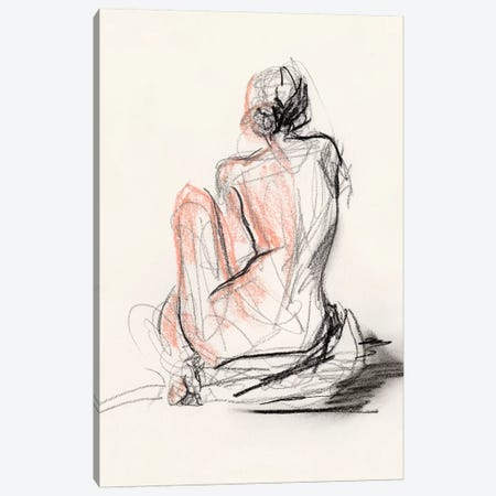 Figure Gesture II Canvas Print #JPP296} by Jennifer Paxton Parker Canvas Wall Art