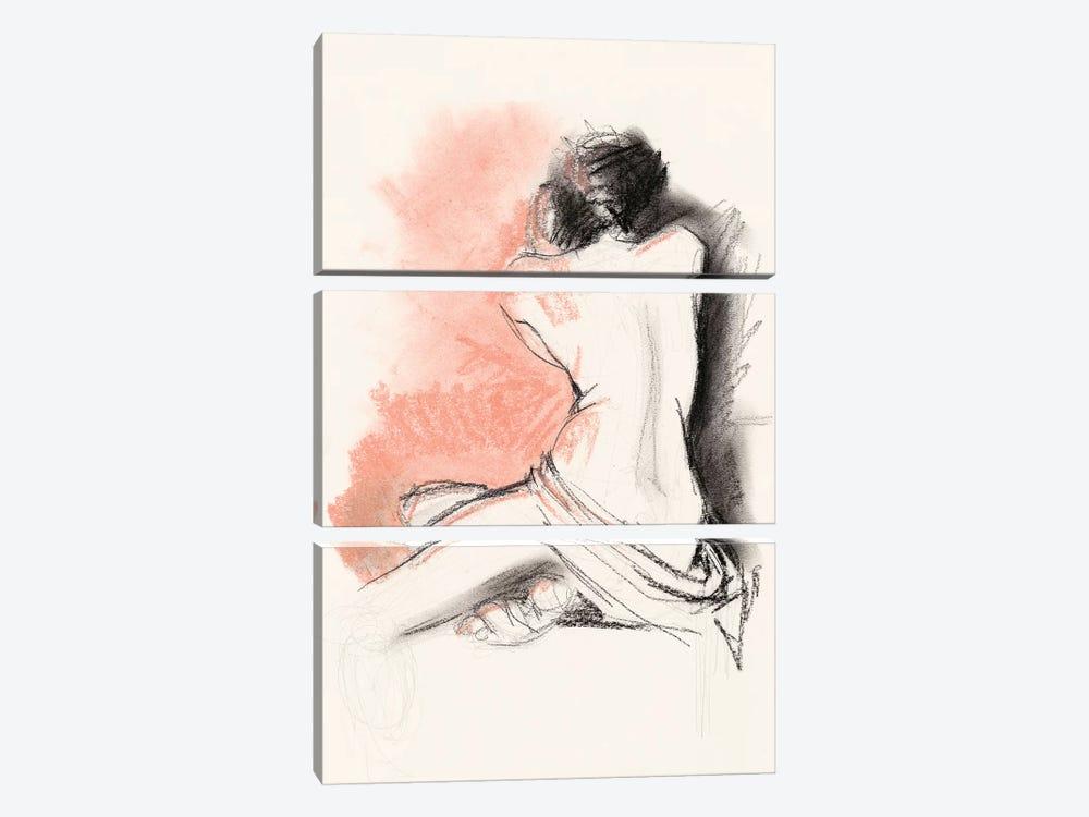 Figure Gesture III by Jennifer Paxton Parker 3-piece Canvas Art Print