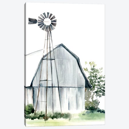 Watercolor Barn I 3-Piece Canvas #JPP29} by Jennifer Paxton Parker Canvas Art Print