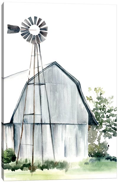 Watercolor Barn I Canvas Art Print