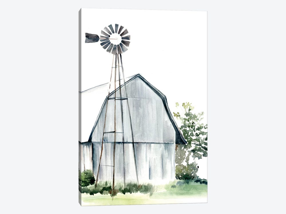Watercolor Barn I by Jennifer Paxton Parker 1-piece Canvas Art Print