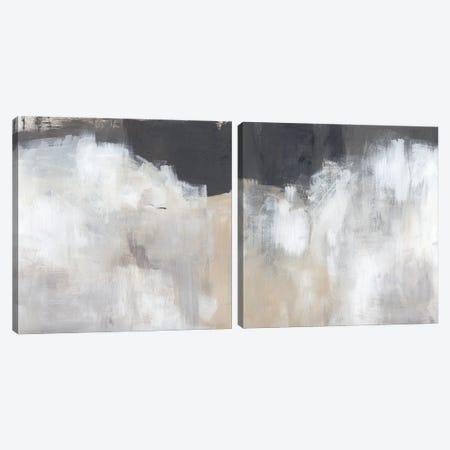 Neutral Abstract Diptych Canvas Print Set #JPP2HSET007} by Jennifer Paxton Parker Canvas Art Print
