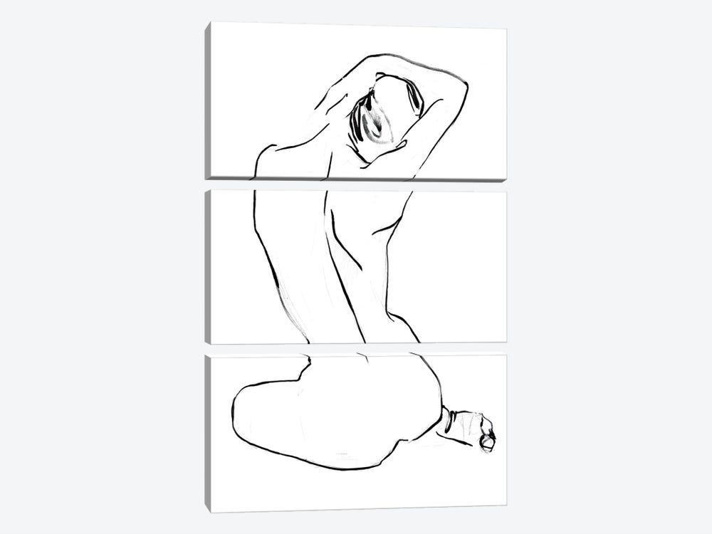 Fixing the Bun II by Jennifer Paxton Parker 3-piece Canvas Artwork