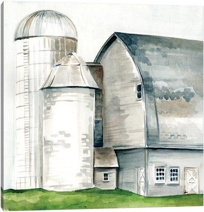 Watercolor Barn II Canvas Art Print