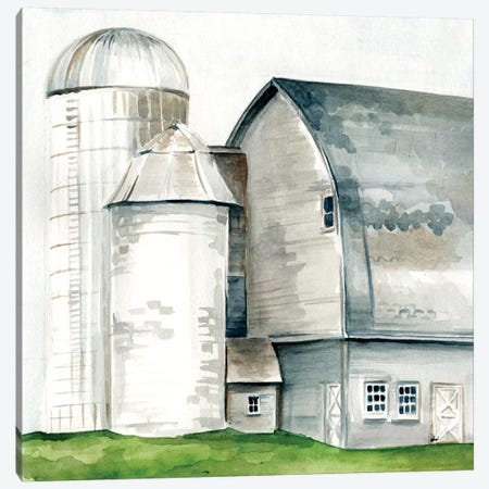 Watercolor Barn II Canvas Print #JPP30} by Jennifer Paxton Parker Canvas Artwork
