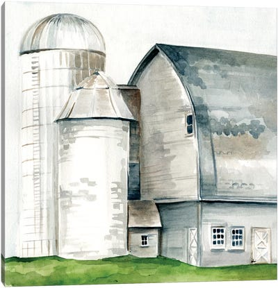 Watercolor Barn II Canvas Art Print