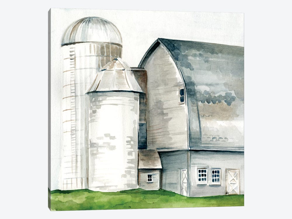 Watercolor Barn II by Jennifer Paxton Parker 1-piece Canvas Art Print
