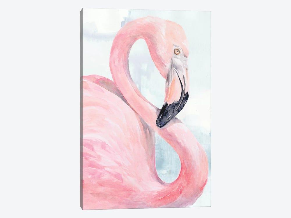 Pink Flamingo Portrait I by Jennifer Paxton Parker 1-piece Canvas Artwork