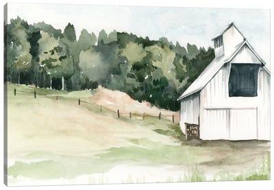Watercolor Barn III Canvas Art Print