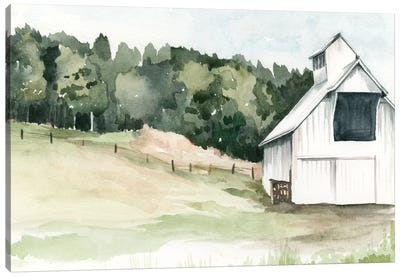 Watercolor Barn III Canvas Art Print