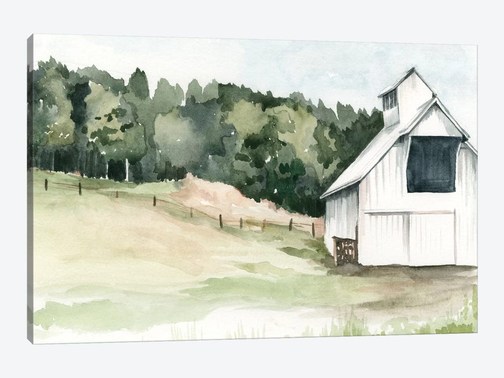 Watercolor Barn III by Jennifer Paxton Parker 1-piece Canvas Art