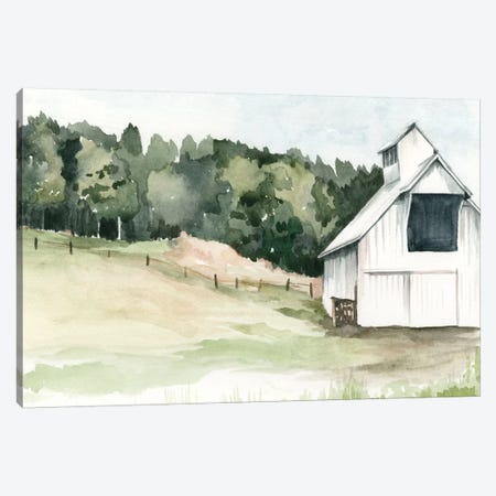Watercolor Barn III Canvas Print #JPP31} by Jennifer Paxton Parker Canvas Wall Art
