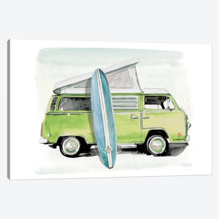 Surf Wagon I Canvas Print #JPP323} by Jennifer Paxton Parker Canvas Art Print