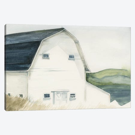 Watercolor Barn IV Canvas Print #JPP32} by Jennifer Paxton Parker Canvas Artwork